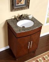 Silkroad Exclusive 26 Inch Single Sink Bathroom Vanity