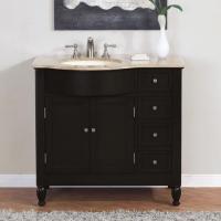 Silkroad Exclusive 38 Inch Single Sink Bathroom Vanity