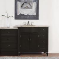 Silkroad Exclusive 58 Inch Single Sink Bathroom Vanity
