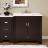 Silkroad Exclusive 54 Inch Single Sink Bathroom Vanity