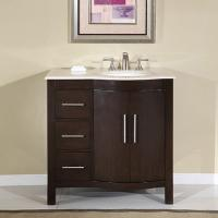 36 Inch Modern Single Bathroom Vanity with Espresso Finish