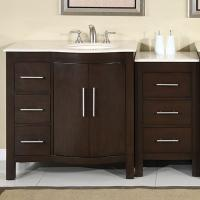 53.5 Inch Modern Single Bathroom Vanity with Espresso Finish