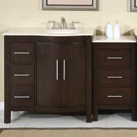 Silkroad Exclusive 53.5 Single Sink Bathroom Vanity