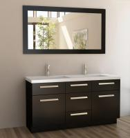 60 Inch Double Sink Bathroom Vanity with Quartz Top