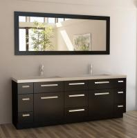 84 Inch Double Bath Vanity in Espresso
