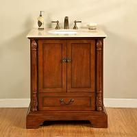 32 Inch Single Sink Bathroom Vanity in Walnut