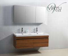 55 Inch Double Sink Bathroom Vanity with Soft Closing Drawers