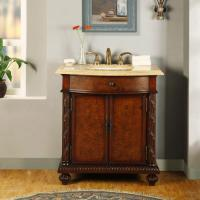 Silkroad Exclusive 34 Inch Single Sink Bathroom Vanity