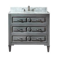 36 Inch Single Sink Bathroom Vanity in a Distressed Blue Finish