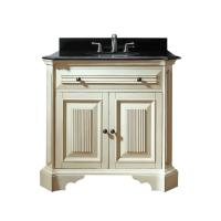 36 Inch Single Sink Bathroom Vanity in Distressed White
