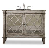 44 Inch Single Sink Bathroom Vanity in Antiqued Parchment