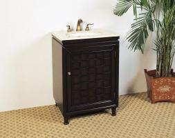 24 Inch Single Sink Furniture Style Bathroom Vanity with Espresso Finish
