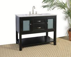 42 Inch Single Sink Bathroom Vanity with  Ebony Finish