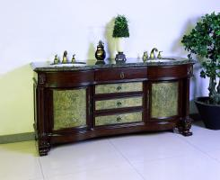 72 Inch Double Sink Bath Vanity in Dark Cherry