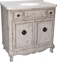 36 Inch Single Sink Bathroom Vanity in Aged Pine
