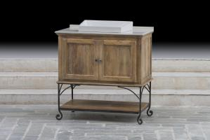 36 Inch Single Sink Bathroom Vanity with a Brown Mango Finish
