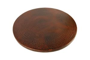 18 Inch Hand Hammered Copper Lazy Susan