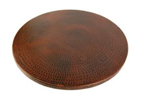 20 Inch Hand Hammered Copper Lazy Susan