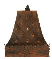 Rustic lamp shades with free shipping white glass fleur de lis tin lampshade mozeypictures Image collections