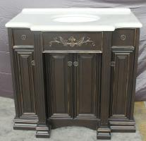 40 Inch Single Sink Bathroom Vanity with Painted Details