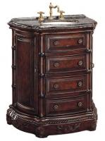 33 Inch Single Sink Antique Vanity with Granite