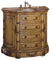 42 Inch Single Sink Vanity Cabinet in Antiqued Parchment Finish