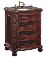 29 Inch Single Sink Bathroom Vanity with Embossed Inlays