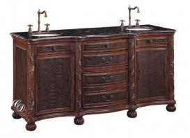 71 Inch Double Sink Bathroom Vanity with Embossed Inlays
