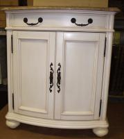 30 Inch Single Sink Furniture Style Bathroom Vanity with Antique White Finish and Choice of Counter