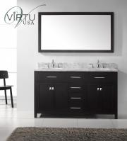 60 Inch Double Sink Bathroom Vanity with Lots of Storage Space