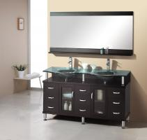 Virtu USA 61 Inch Double Sink Bathroom Vanity