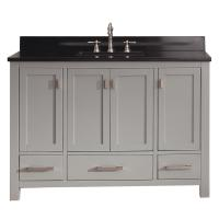 48 Inch Single Sink Bathroom Vanity in Chilled Gray