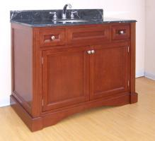 42 Inch Single Sink Bathroom Vanity with Choice of Finish and Counter Top