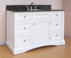 48 inch single sink bathroom vanity with antique white - 48 inch bathroom vanity without top ...