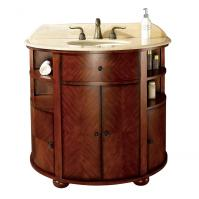 38 Inch Single Sink Bathroom Vanity with Dark Oak Finish and Choice of Top