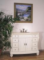 48 Inch Single Sink Bathroom Vanity with Antique White Finish