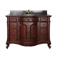 49 Inch Single Sink Bathroom Vanity with Antique Cherry Finish and Choice of Counter Top