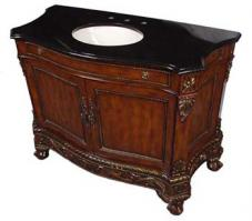 49 Inch Single Sink Bathroom Vanity Cabinet with Black Marble