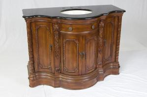 48 Inch Single Sink Bathroom Vanity in Antiqued Dark Brown