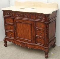 45 inch antiqued single sink bathroom vanity cabinet