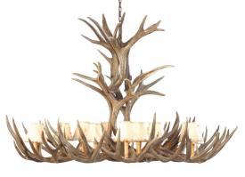 8 Light Extra Large Mule Deer Antler Chandelier