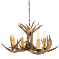 4 Light Coues Deer Antler Chandelier