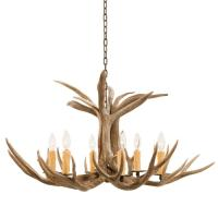 6 Light Mule Deer Antler Chandelier