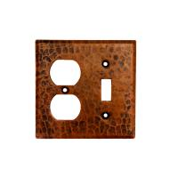 Copper 2 Hole Outlet and Single Toggle Switch