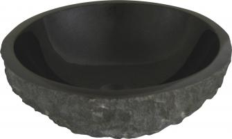 Quiescence Black Granite Vessel Sink