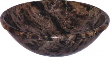 Dark Emperador Vessel Sink