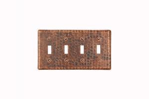 Copper Switchplate Quadruple Toggle Cover