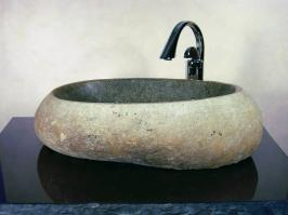 Large Boulder Sand Granite Stone Vessel Sink