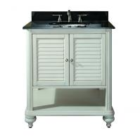 31 Inch Single Sink Bathroom Vanity with Antique White Finish with Choice of Top
