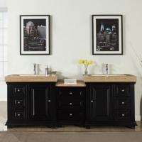 90 Inch Double Bathroom Vanity shop large double bath sink vanities 73 – 95 inches with free